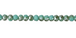 Green Turquoise AB Crystal Faceted Rondelle 4mm