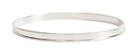 Nunn Design Sterling Silver (plated) 3mm Channel Bangle Bracelet 70mm