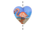 Grace Lampwork Flamingo Heart 18-20mm