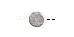 Nunn Design Antique Silver (plated) Mini Organic Flat Circle 10.5mm