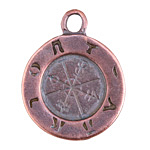 Greek Bronze (plated) Ancient Astrology Pendant 35x44mm