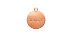 "Copper ""Create"" Round Charm 13x15mm"