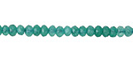 Sea Green Colorful Jade Faceted Rondelle 4mm