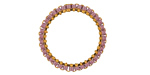 Miyuki Delicas Miyuki Delicas Woven on Gold (plated) Stainless Steel 23mm