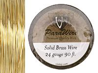 Vintaj Solid Brass Wire 24 gauge, 90ft.