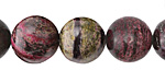 Purple & Green Zebra Jasper Round 14mm