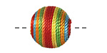 Carnival Thread Wrapped Bead 18mm