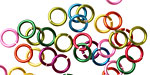 Rainbow Mix Enameled Copper Round Jump Ring 6.5mm, 18 gauge