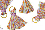 Spring Fling w/ Jump Ring Thread Tassel 20mm