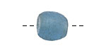 African Recycled Glass Denim Blue Tumbled Round 11-14mm