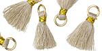 Oyster w/ Gold Binding & Jump Ring Thread Tassel 18mm