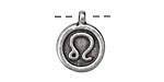 Greek Pewter Leo Pendant 15x18mm