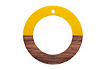 Wood & Citrus Resin Ring Focal 28mm