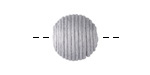 Dove Gray Thread Wrapped Bead 14mm