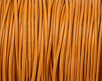 Marigold Round Leather Cord 1.5mm