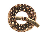 Saki Bronze Bumpy Toggle Clasp 34mm, 36mm bar