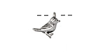 Zola Elements Antique Silver (plated) Little Bird Charm 13mm
