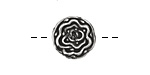 Pewter Lisianthus Button 16mm