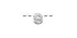 "Sterling Silver Letter ""S"" Charm Slide 6mm"