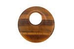 Tiger Eye Off Center Donut 25mm