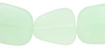 Opaque Seafoam Green Recycled Glass Flat Freeform 21-23x18-20mm