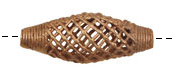 African Brass Criss Cross Rice 46-48x18-19mm