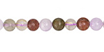 Multi Quartz (Rutilated, Lavender, Strawberry) Round 6mm