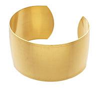 Brass Smooth Round Cuff 62x32mm