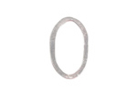 Nunn Design Sterling Silver (plated) Small Flat Oval 15x24mm