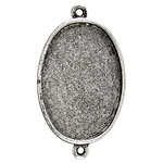 Nunn Design Antique Silver (plated) Grande Oval Bezel Link 49x28mm