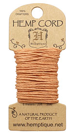Cappuccino Candy Hemp Twine 20 lb, 20 ft