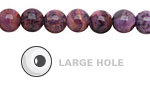 Purple Crazy Lace Agate Round (Large Hole) 8mm
