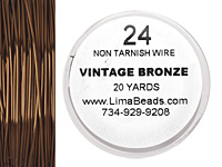Parawire Vintage Bronze 24 gauge, 20 yards