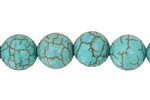 Blue Magnesite Round 11-12mm