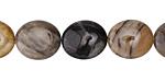 Black Moss Opal Flat Oval 14x12mm