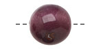Tagua Nut Violet Round 20mm