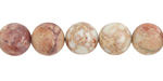 White Impression Jasper (matte) Round 10mm