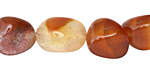 Carnelian (natural) Tumbled Nugget 10-18x10-16mm