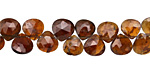 Hessonite Faceted Flat Teardrop 7-8mm