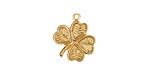 Brass 4 Leaf Clover Charm 15mm