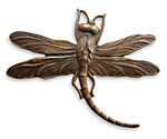 Vintaj Natural Brass Art Deco Dragonfly Pendant 47x35mm