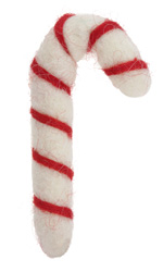 Felt Candy Cane 32-39x66-77mm