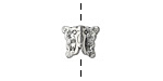 Antique Silver (plated) Butterfly 12x9mm