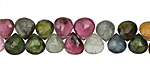 Tourmaline Faceted Flat Teardrop 6-7mm