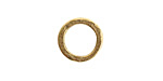 Nunn Design Antique Gold (plated) Small Hammered Circle 17.5mm