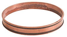 Nunn Design Antique Copper (plated) Channel Bangle Bracelet 70mm
