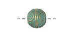 Zola Elements Patina Green Brass (plated) Bali Style Round 12mm