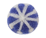 White Snowflake on Cobalt Felt Round 30mm