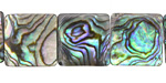 Abalone Flat Square 16mm