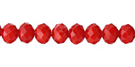 Red Coral Crystal Faceted Rondelle 8mm